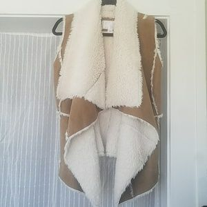 Furry and Chic Taupe Vest